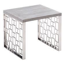 armen living skyline grey end table to enlarge