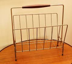 Vintage Brass Magazine Holder Tribute 100th Decor Vintage Brass Magazine Rack 2
