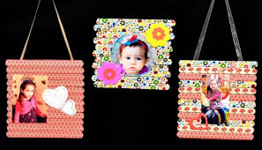 photo frame art craft ice cream sticks popsicle diy tutorial maker ideas s gifts creation wall craft nook studio