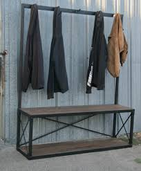 Coat Racks With Benches Combine 100 Industrial Furniture Industrial Coat Rack With Bench 90