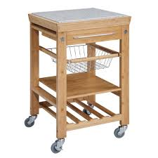 Granite Top Kitchen Trolley Kitchen Cart With Stools Kitchen Cart With Storage Image Of