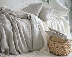 natural linen duvet cover set with wooden ons traditional covers and sets by hotel collection wo