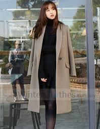 women simple long trench coat winter longline coat