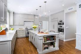 Fashion Light Grey Kitchen Cabinets With Island Dewils