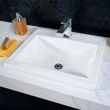 bathroom sinks studio drop in sink white vanity kohler