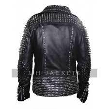 britney spears studded black men s jacket
