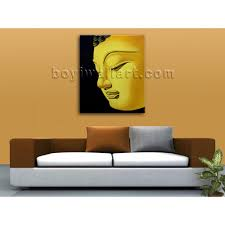 Buddha Head Decor Large Feng Shui Painting Abstract Buddha Head Peaceful Home Decor
