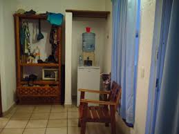 luna blue hotel tropical hideaway had sliding glass door but we felt secure with lock