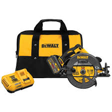 dewalt power tools saw. dewalt flexvolt 60-volt max lithium-ion cordless brushless 7-1/4 in. circular saw with battery 6ah, 1-hour charger and case-dcs575t1 - the home depot dewalt power tools