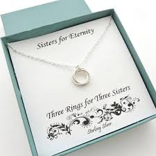sister gift three sisters necklace 3