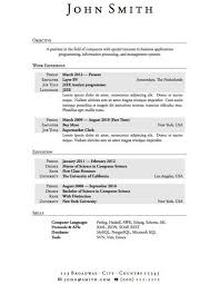 Resume Templates For Highschool Students Adorable Resume Template For Highschool Students With No Work Experience