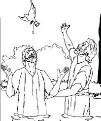 Jesus Baptism Coloring Page Baptism Coloring Page Getting Baptized