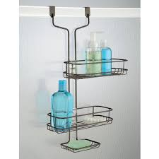 over the door shower caddy plastic. Wonderful Shower Amazoncom InterDesign Linea Adjustable Over Door Shower Caddy U2013 Bathroom  Storage Shelves For Shampoo Conditioner And Soap Bronze Home U0026 Kitchen And The Plastic E