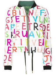 Herno Letters Print Padded Bomber Jacket Farfetch