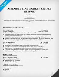 Factory Worker Cv Factory Resume Resume For Factory Job Sample Production