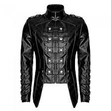 men heavy fashion jacket pu leather military jacket uniform