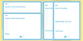 Daily Checklist Planner Daily Planner Alternative Checklist
