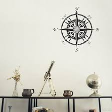 compass rose removable wall decals