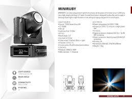 Sharpy Dmx Chart Miniruby M L Company