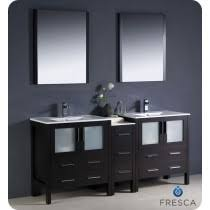 discount bathroom double sink vanities. fresca torino (double) 72-inch espresso modern bathroom vanity with integrated sinks discount double sink vanities e