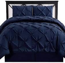 pin on navy blue pintuck duvet covers