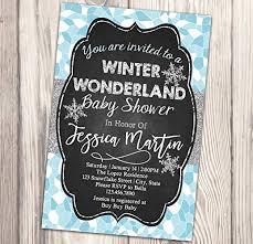Snowflake Baby Shower Invitations Amazon Com Winter Wonderland Baby Shower Invitation Snowflake