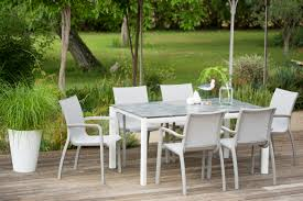 sunset garden dining set with hpl table top