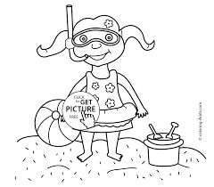 Small Picture coloring pages with girl for kids seasons coloring pages