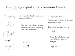 how to solve log base 10 math solving log equations common bases math for kids