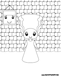 Printable Bride Of Frankenstein Coloring Page