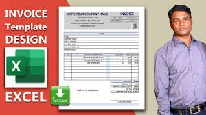 Get Invoice Format In Excel Youtube Pictures