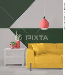 green room geometric wall art paint