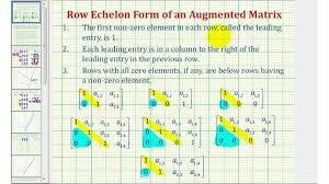 ex 3 solve a system of two equations with using an augmented matrix row echelon form
