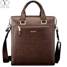 man portrait <b>YINTE Leather Men's</b> Briefcase Fashion Leather ...