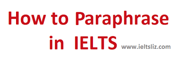 How To Paraphrase Successfully In Ielts