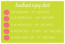 Headband Making Size Chart For Foe Headbands Crafty Owl