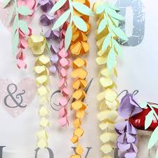 Paper Flower Garland Us 5 12 13 Off Diy Hanging Paper Wisteria Paper Flower Garland Branch Decor Wedding Nursery Birthday Party Shower In Party Diy Decorations From Home