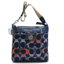 Coach Legacy Swingpack In Signature Large Navy Crossbody Bags AVM