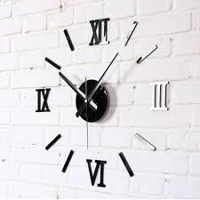 modern 3d wall clocks sticker removable wall decal art mural clock wall watches for home decoration kitchen wall clock kitchen wall clocks from y662