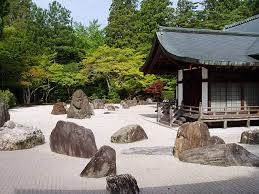 located on top of mt koya kongobu ji is known as the temple of the diamond mountain the temple is home to banryutei japan s largest rock garden covering