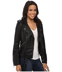 lucky brand hooded faux leather moto jacket gallery lyst lucky brand major moto in black