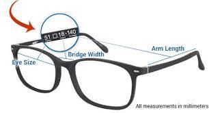 Sunglasses Frame Size Chart 1 800 Get Lens Frame Size Chart