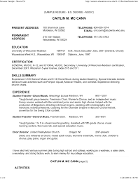 Music Resume format for College Awesome Sample Music Resume for College  Application