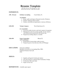 Simple Resume Examples 6 Image Gallery Of Templates Word 10 Format ...