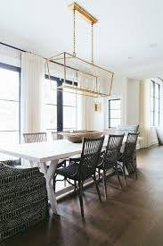 linear dining room lighting. neutral transitional kitchen design black windows with white linen drapery linear dining room lighting
