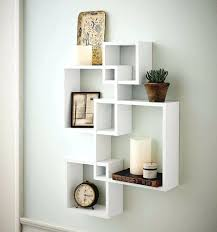 wall box shelves floating cube wall shelf intersecting boxes shelves decor  floating storage display accent wall