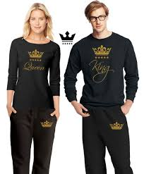 Shirts With Pants His Hers King Queen Pajamas Couple Matching Pajama Set Shirts Pants Pjs Limited Edition Pj Best Engagement Gift Anniversary Gift