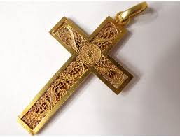 cross pendant solid gold 18 carat gold