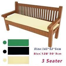 garden bench seat pads outdoor waterproof 3 tie on bench pad garden furniture swing seat cushion