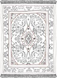 carpet clipart black and white. rug black and white clipart persian carpat art carpet
